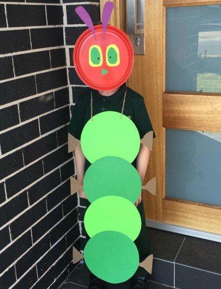The Very Hungry Caterpillar Costume - Last Minute Halloween Costume Ideas
