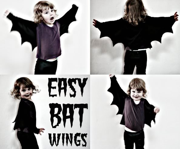 Easy Bat Wings - Last Minute Halloween Costume Ideas