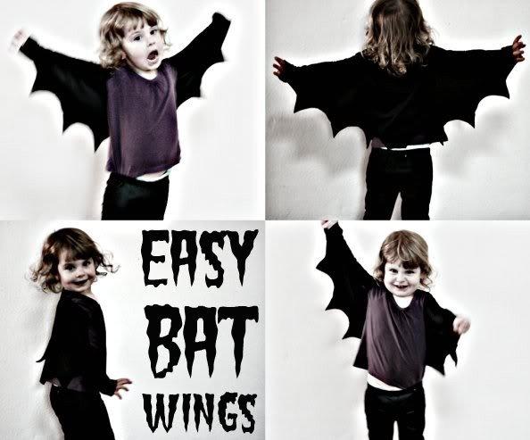 Easy Bat Wings - Last Minute Halloween Costume Ideas