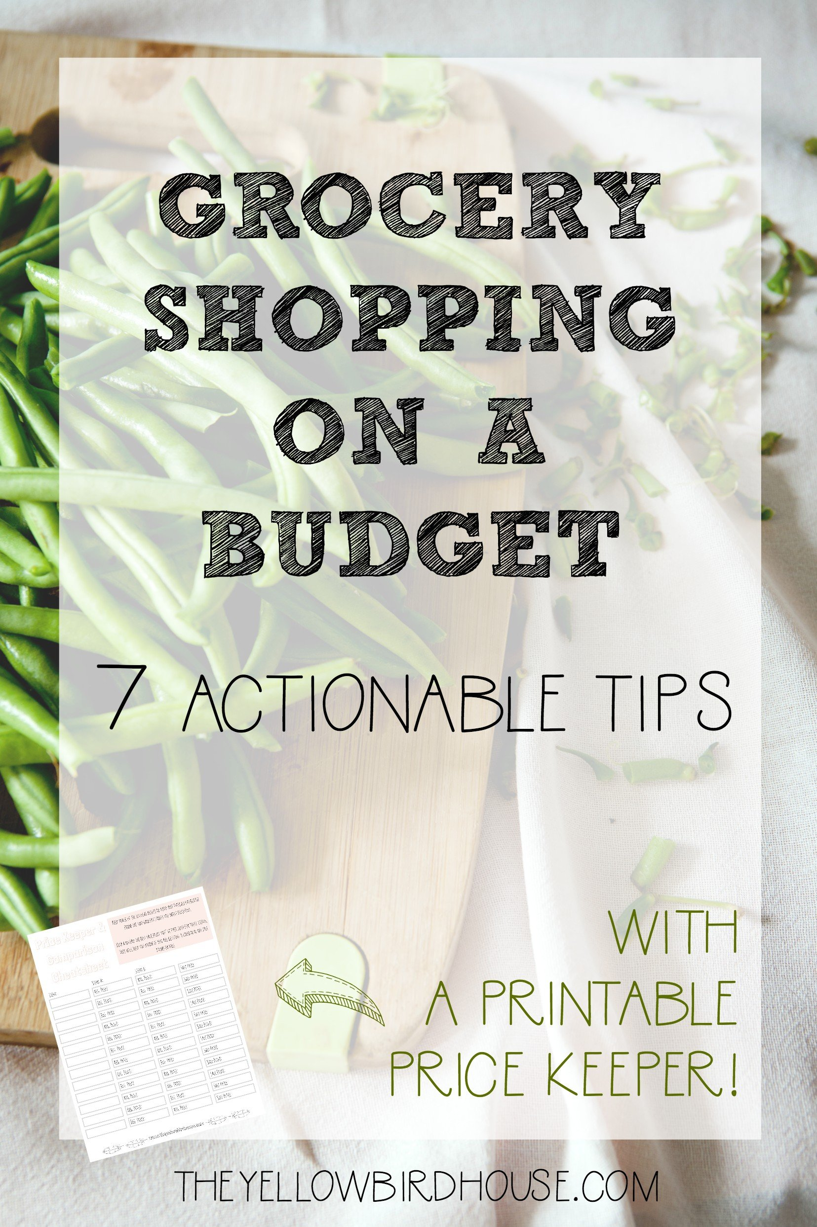 Do you find yourself overpaying for groceries? Food is expensive, and it's so easy to overspend at the grocery store. But it is totally possible to do your grocery shopping on a budget and still eat well! Use this free printable pricing cheatsheet along with my 7 actionable tips for food shopping on a tight budget. You can implement these simple tips today to start saving money on your grocery bill!
