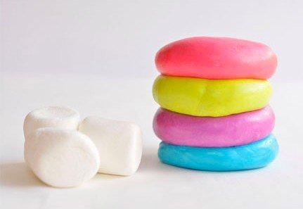 Edible Marshmallow Play Dough