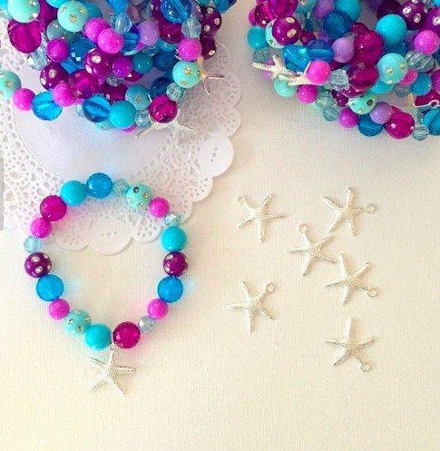 Mermaid Party Favours - Starfish Charm Bracelets