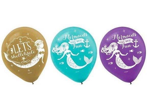 Mermaid Birthday Balloons