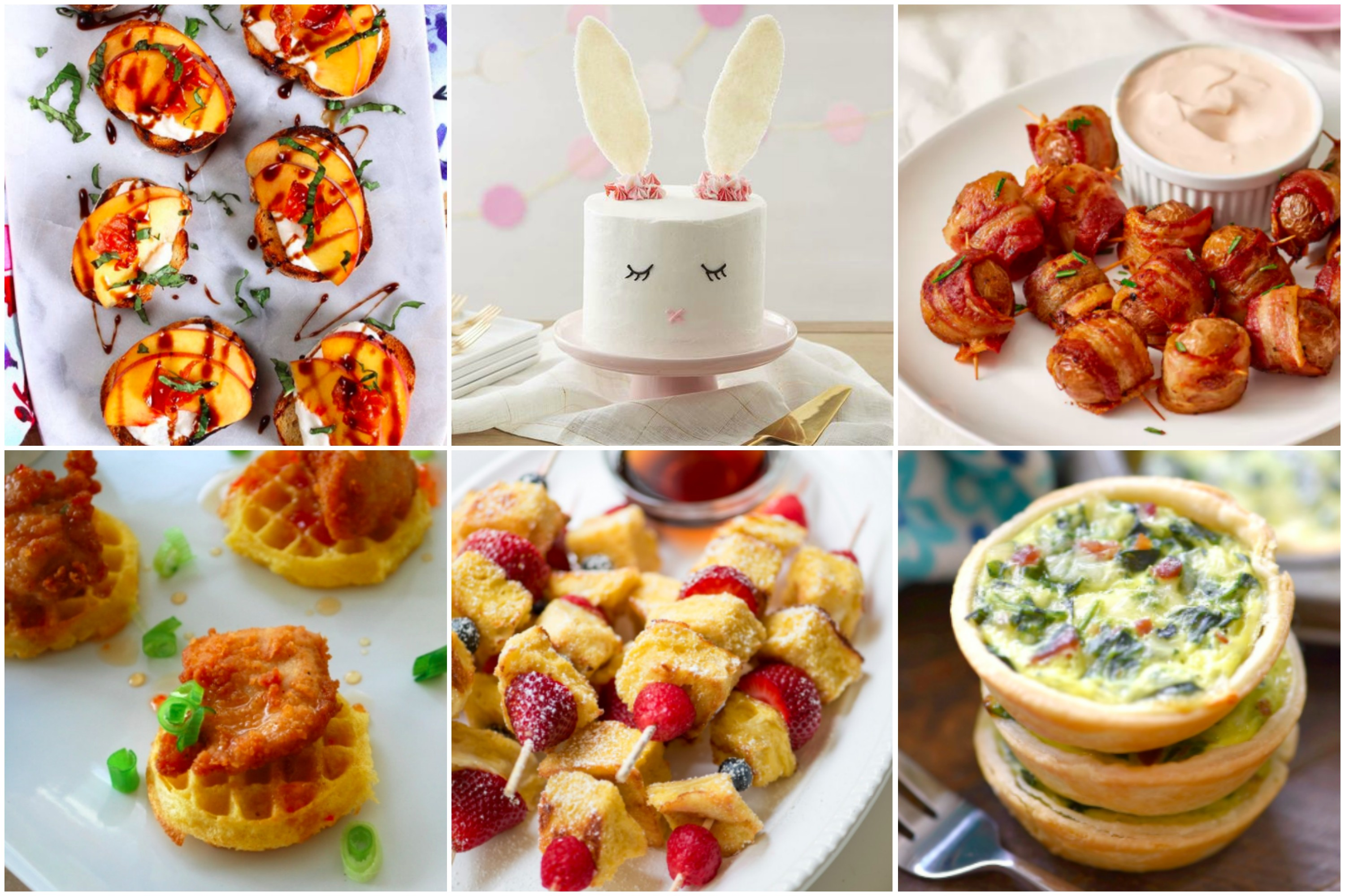 Brunch themed appetizers for a diy baby shower. Baby shower menu ideas with recipes and instructions!