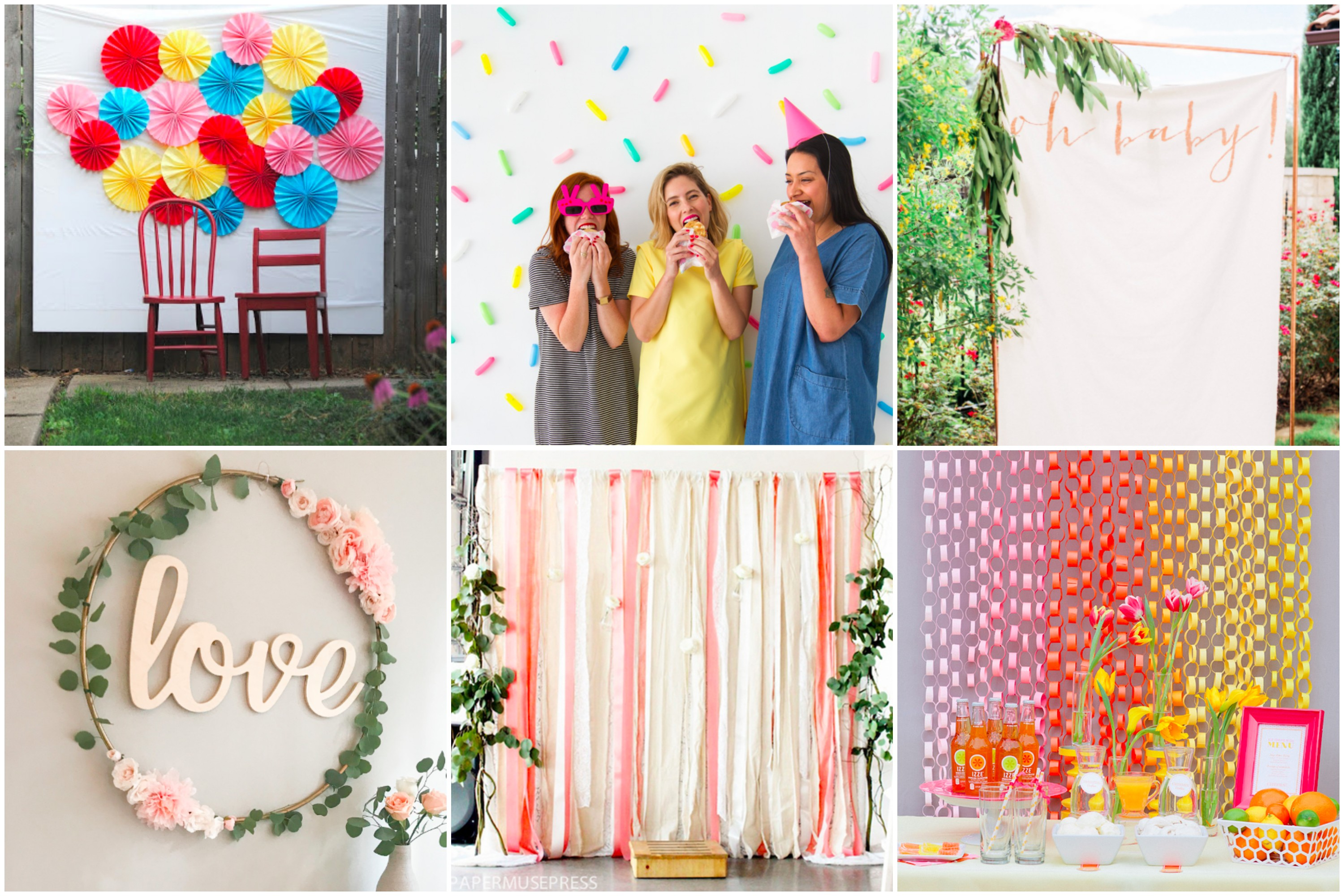 DIY Baby Shower Backdrop and Photo Booth ideas for a super creative and one of a kind party!