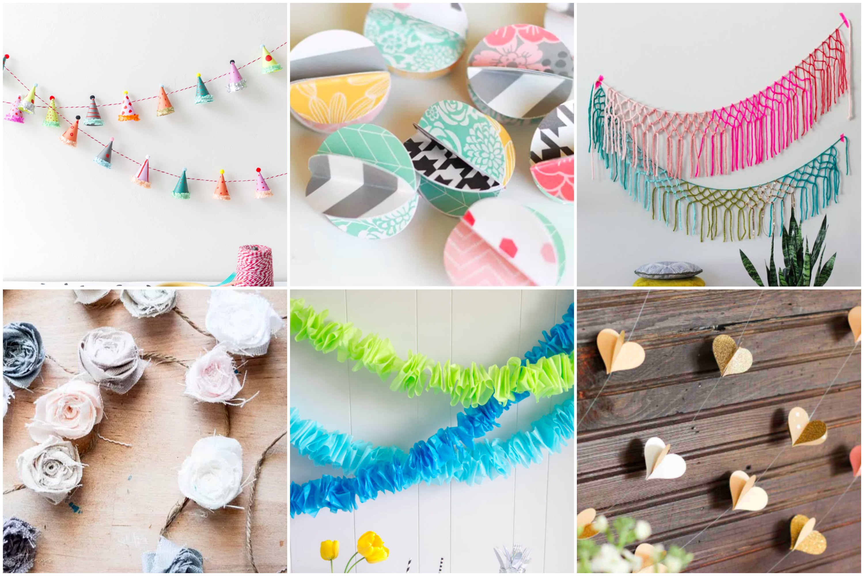 DIY Baby Shower Garland ideas to decorate a super fun DIY baby shower!