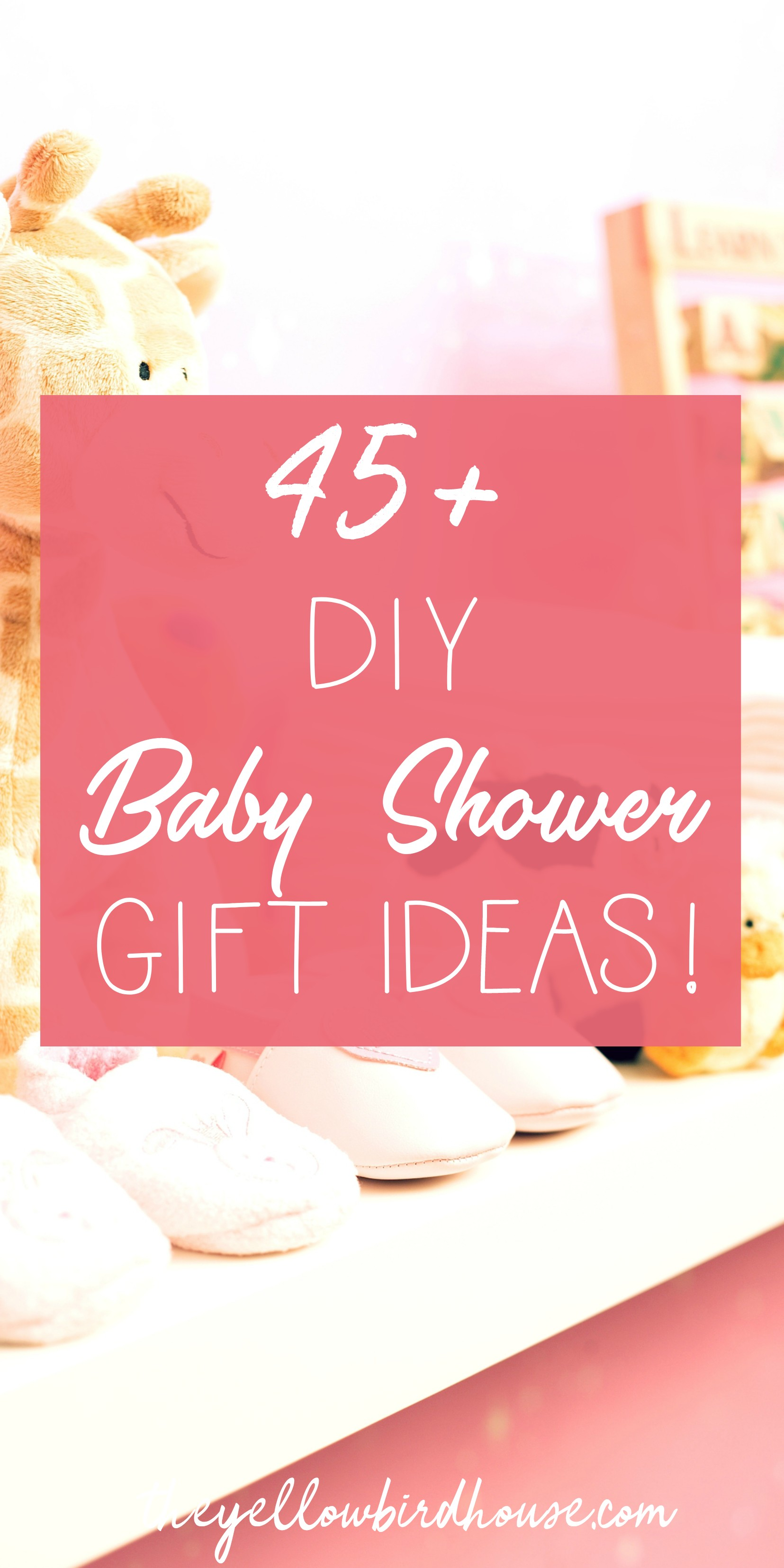 45+ DIY Baby Shower Gift Ideas for new moms. DIY baby leggings, baby booties, bandana bibs and much more. This great round-up post is full of free patterns and tutorials for adorable DIY baby gifts that mom and babe are sure to treasure for years to come!