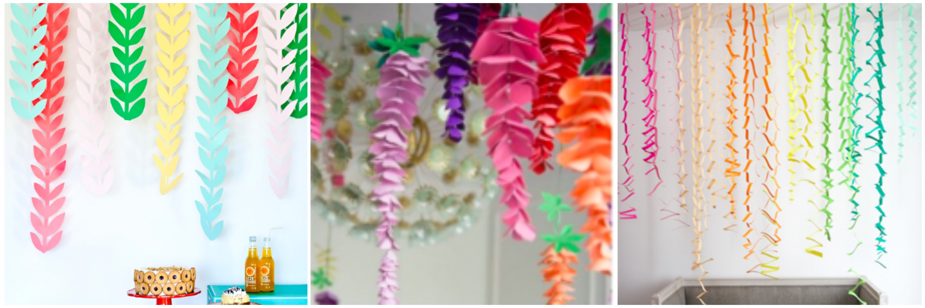 Streamer ideas for DIY baby shower decorations