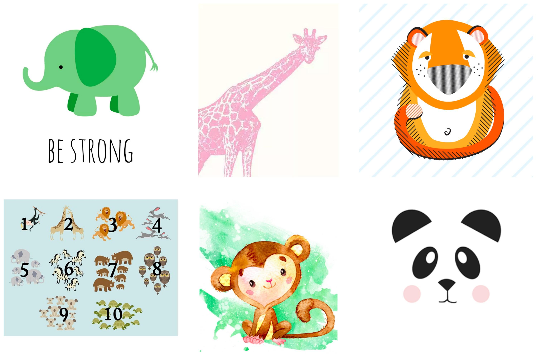 Printable Safari art for kids. Free Nursery printables. Free nursery art.