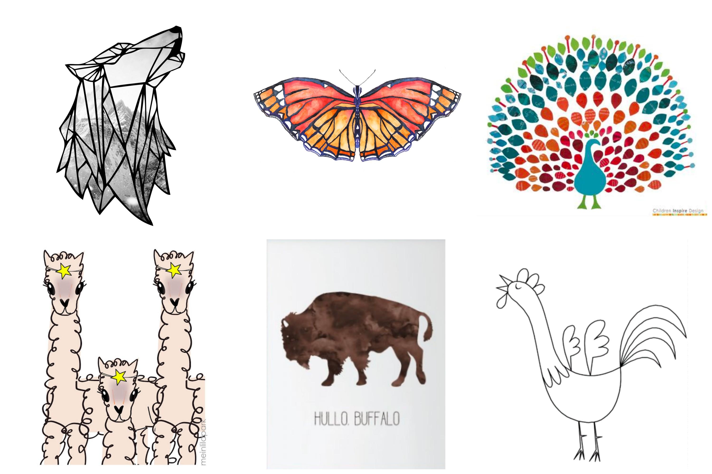 Free animal artwork printables.