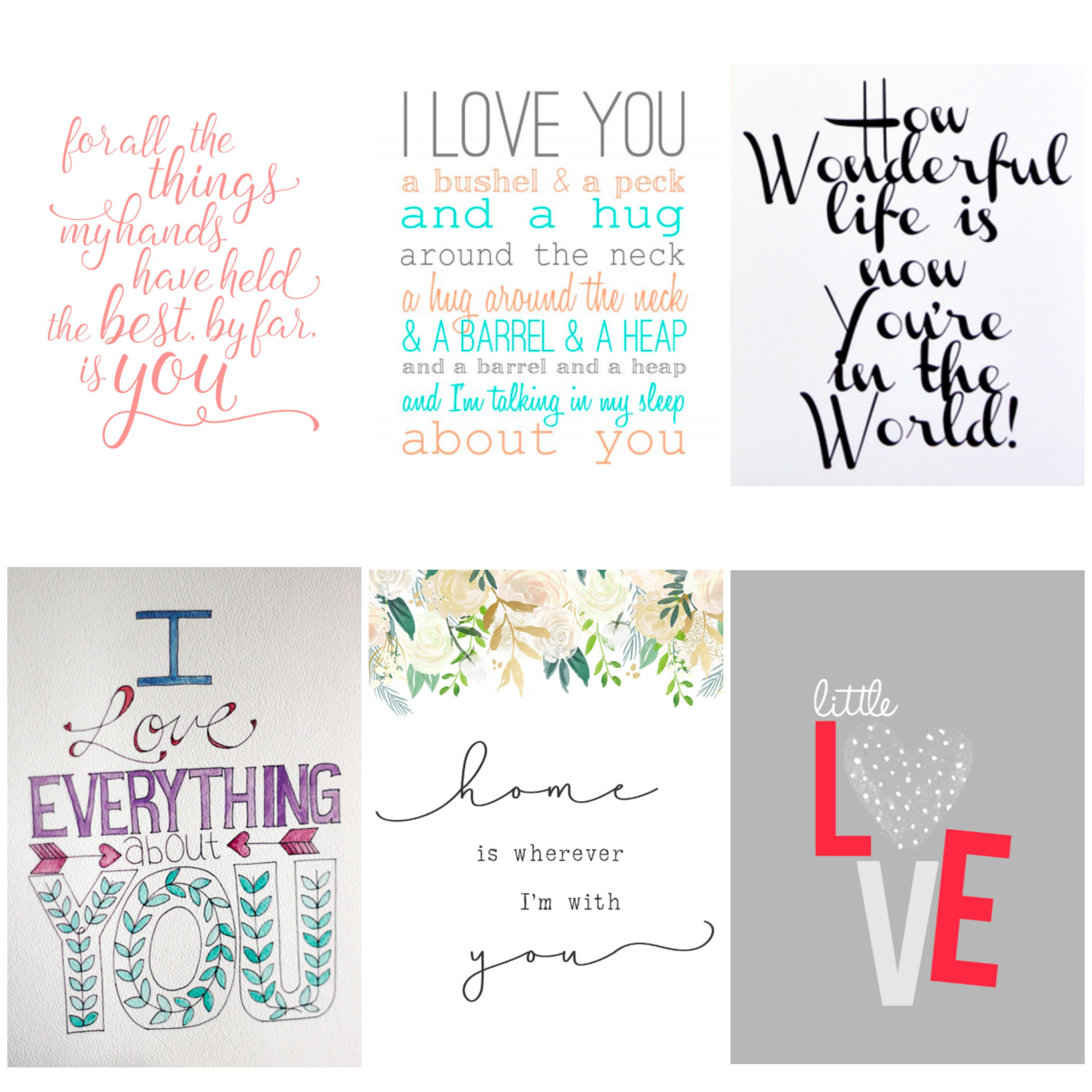 Free printable wall art for kid's room. Printable quotes for children. Free nursery art.