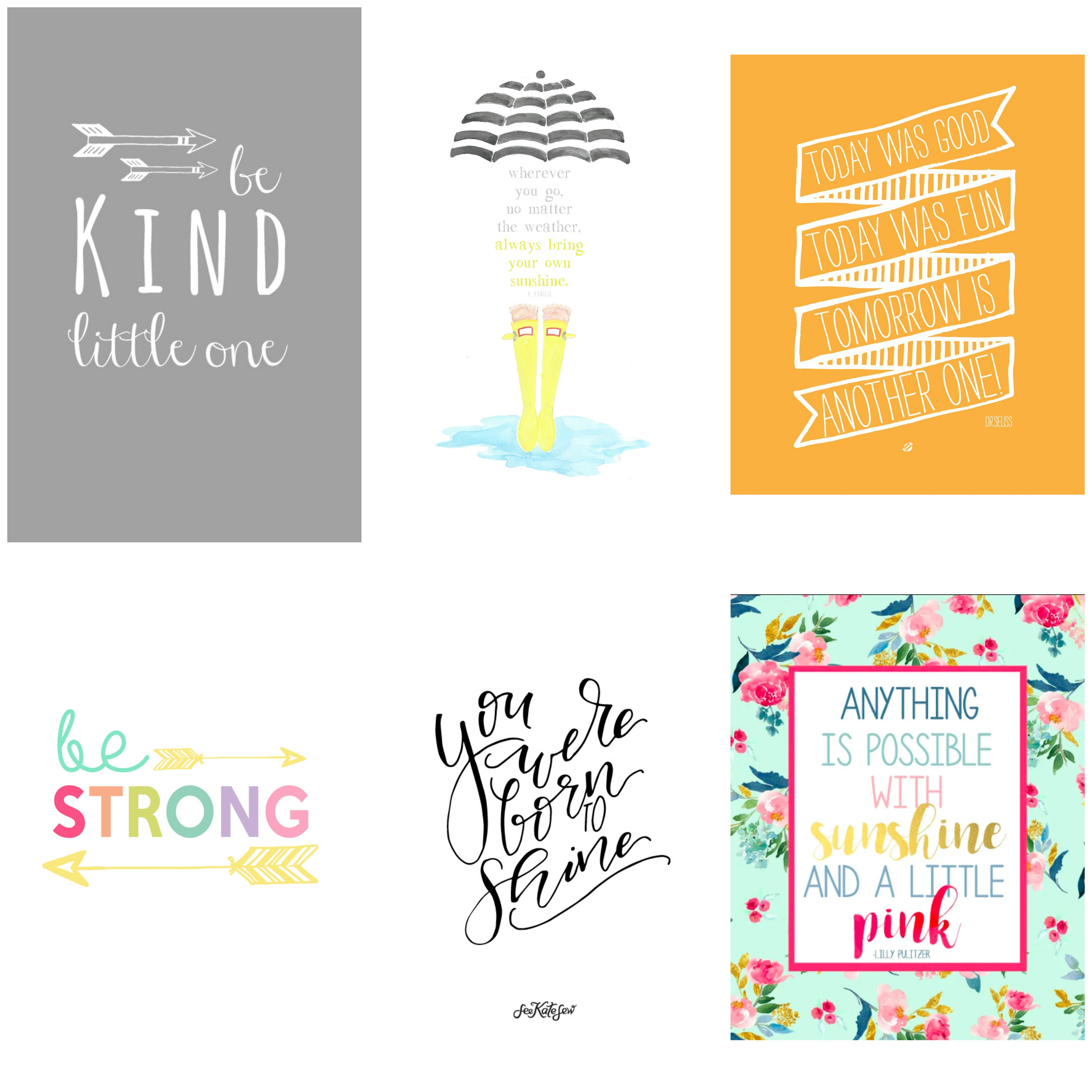Free printable quotes for kids. Children's decor.