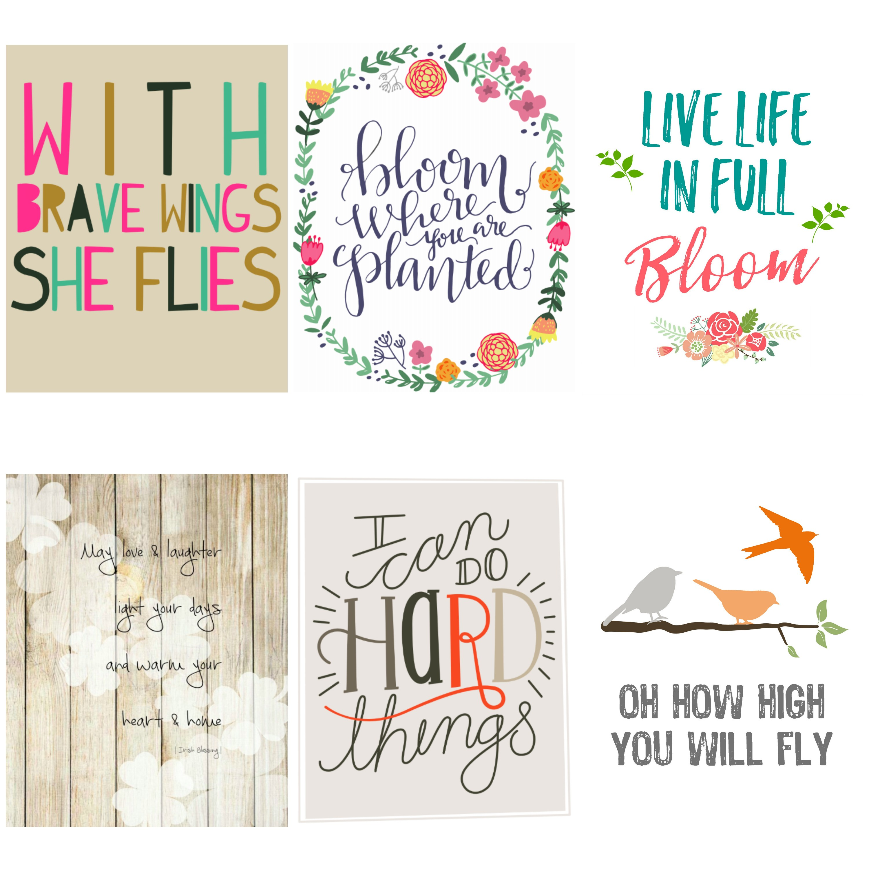 Printable kids decor. Free wall art for nursery. Quotes for kids.
