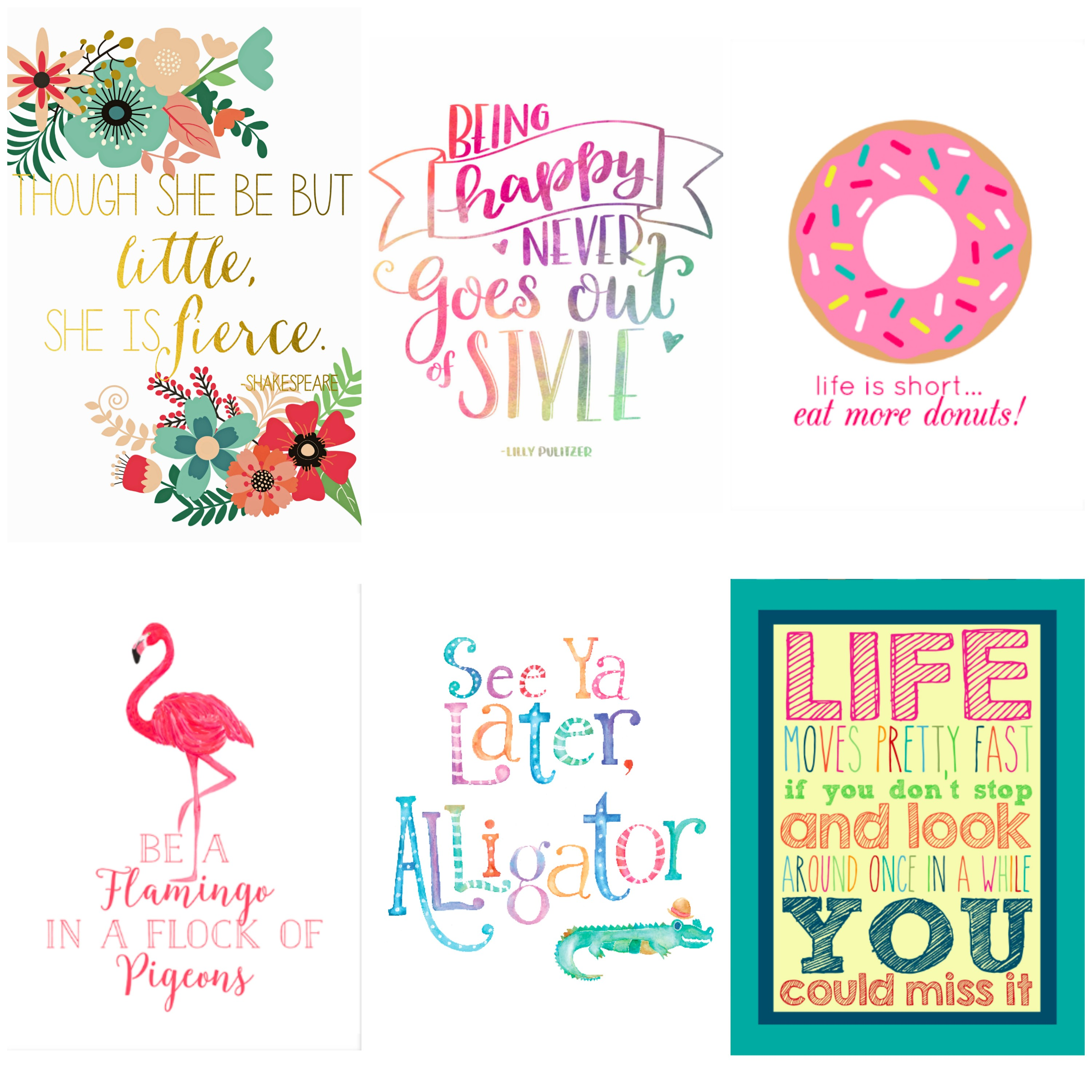 Printable quote art for kids. Free decor for kids' rooms.