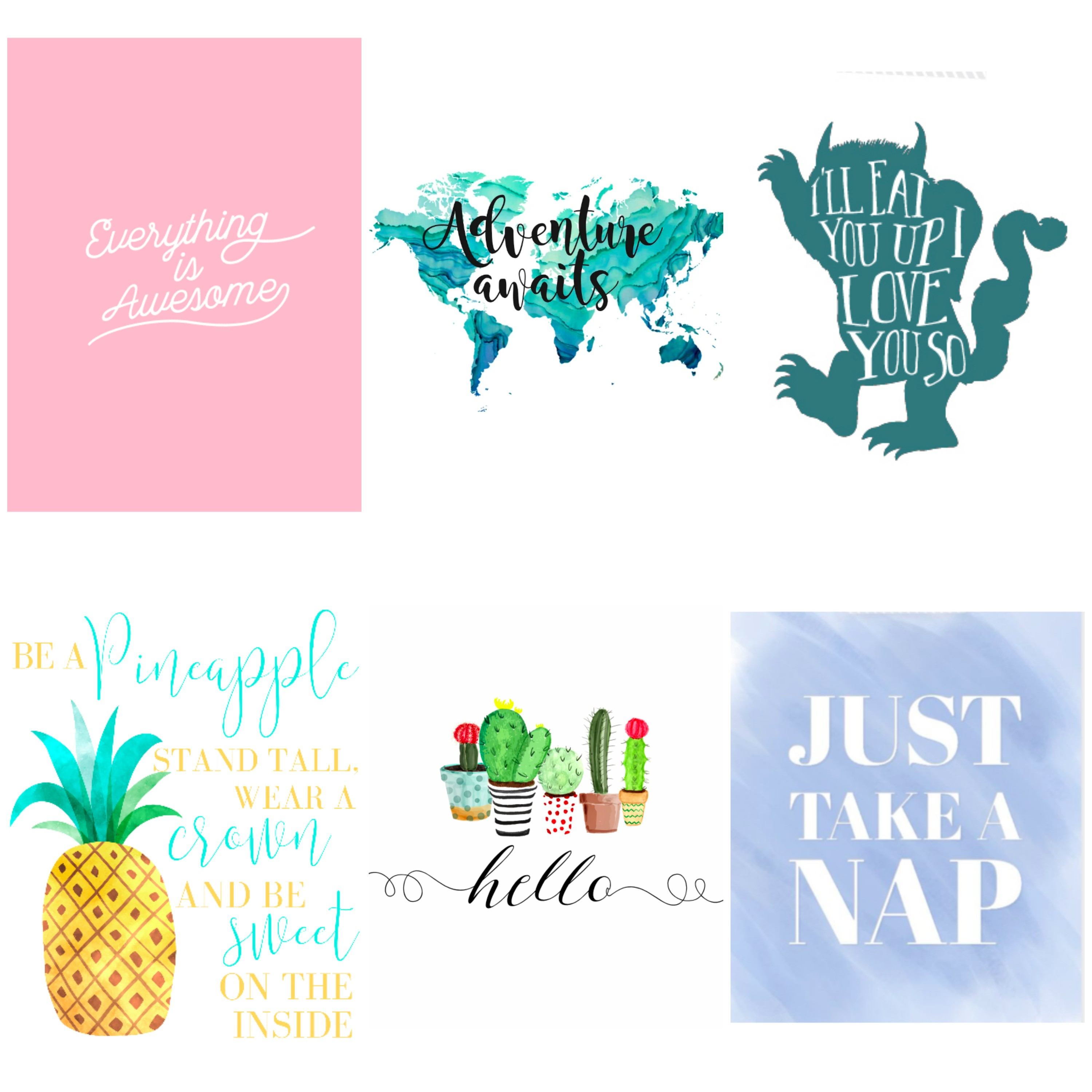 Free printable quotes for kids. Nursery decor on a budget.