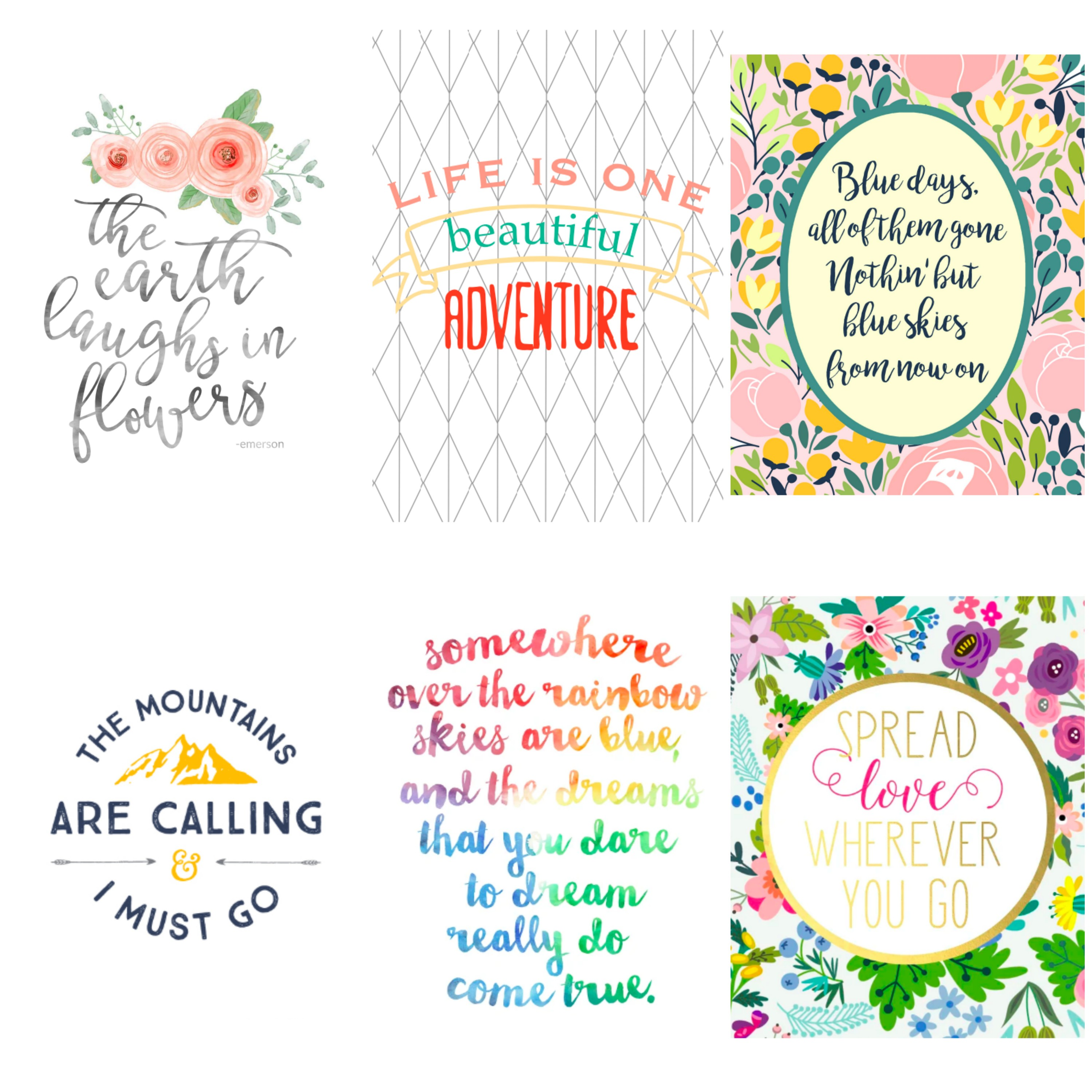 Nursery decor on a budget. Free printable quotes for kids.