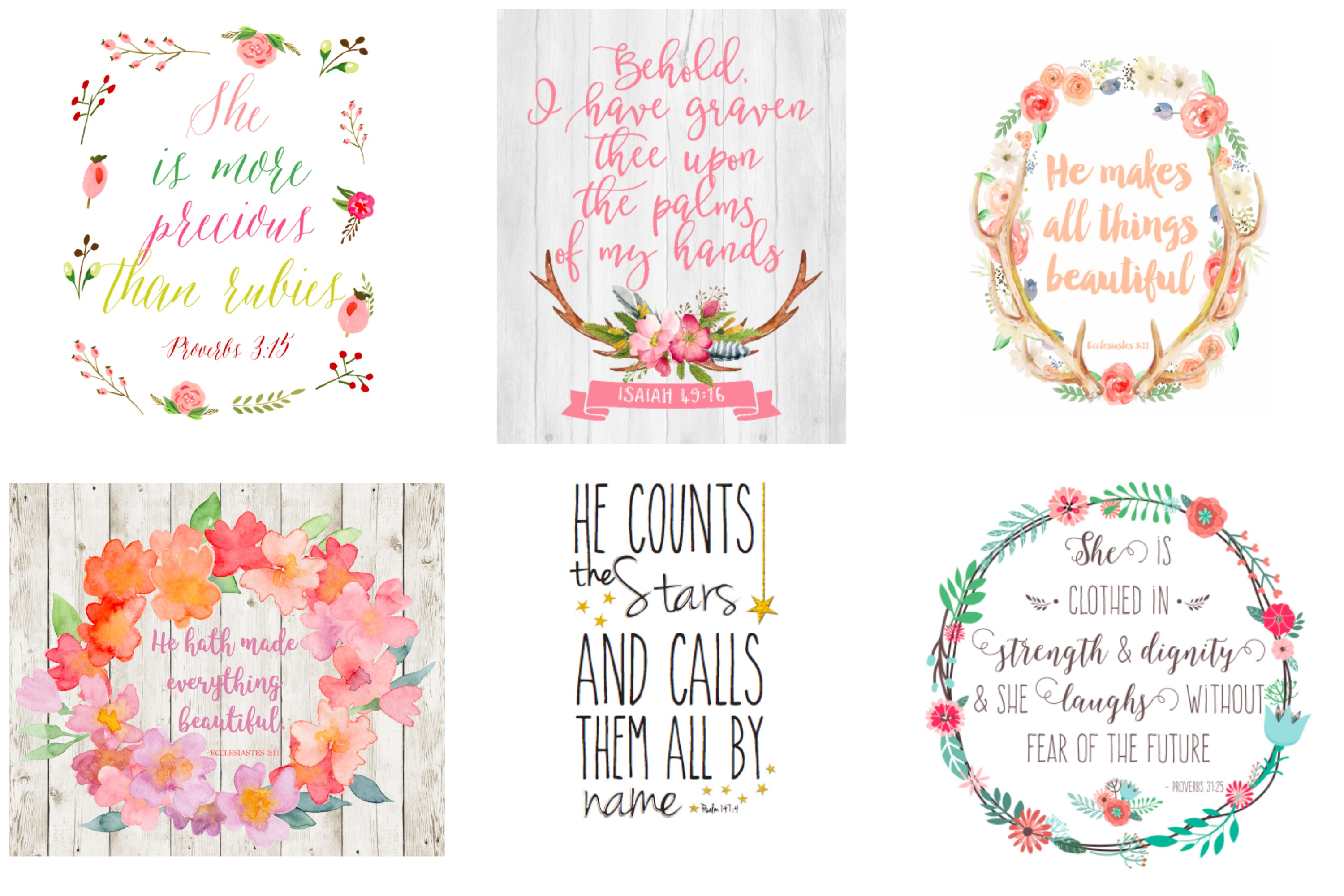 Free printable scripture quotes for your home