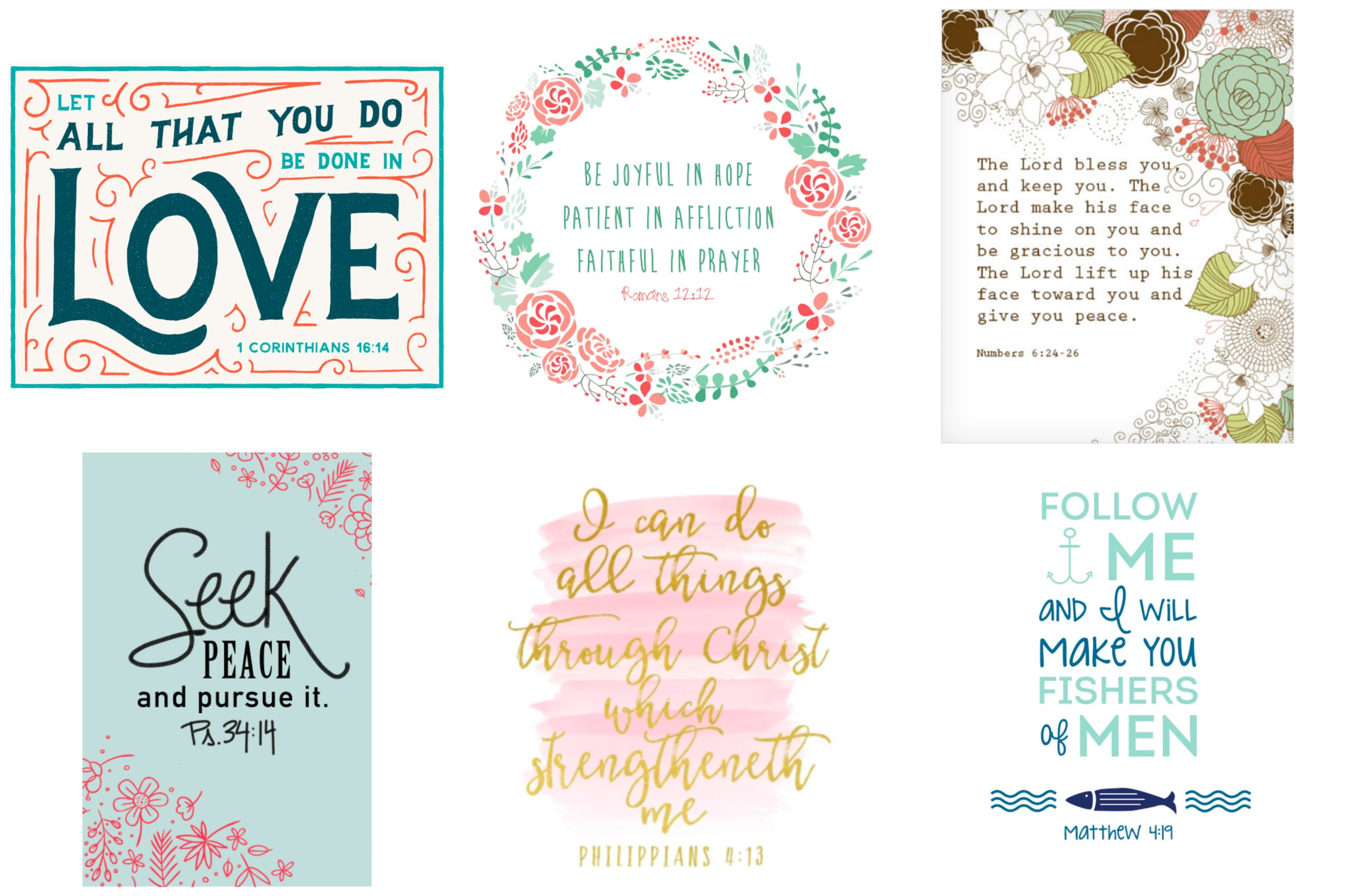 Free printables for the home. Free printable scripture quotes.