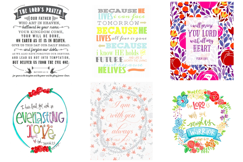 Free nursery decor. Printable scripture quotes