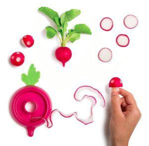 Easily turn radishes into mushrooms! Why? Why not?!
