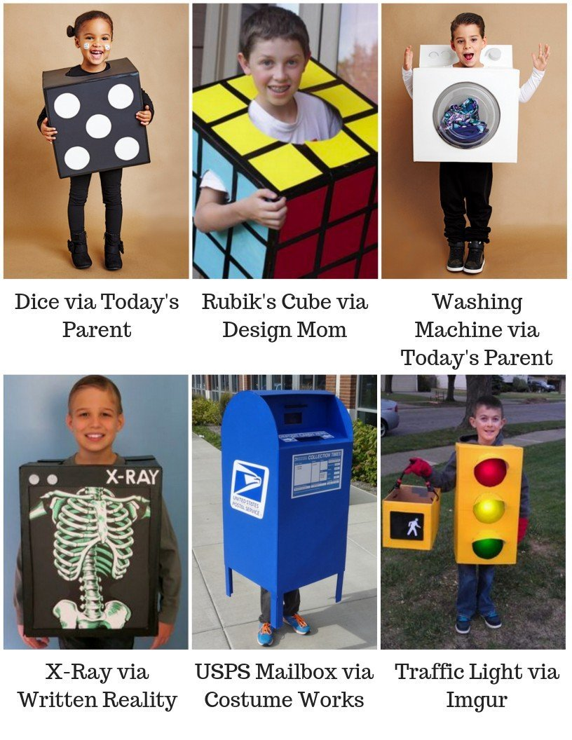 Halloween costume ideas using cardboard boxes