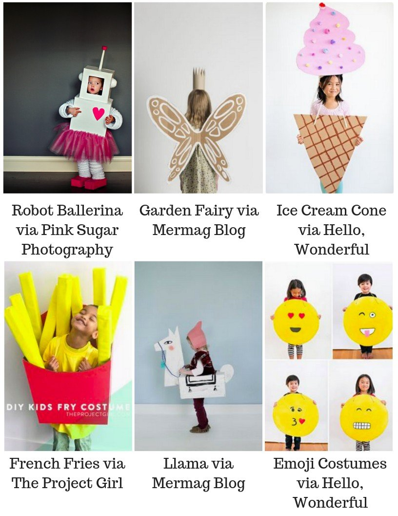 Cardboard box costume ideas for kids